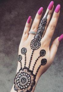 backhand flower Mehndi Designs