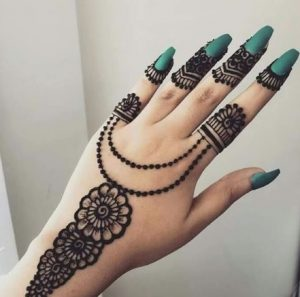 simple and easy mehndi design backhand