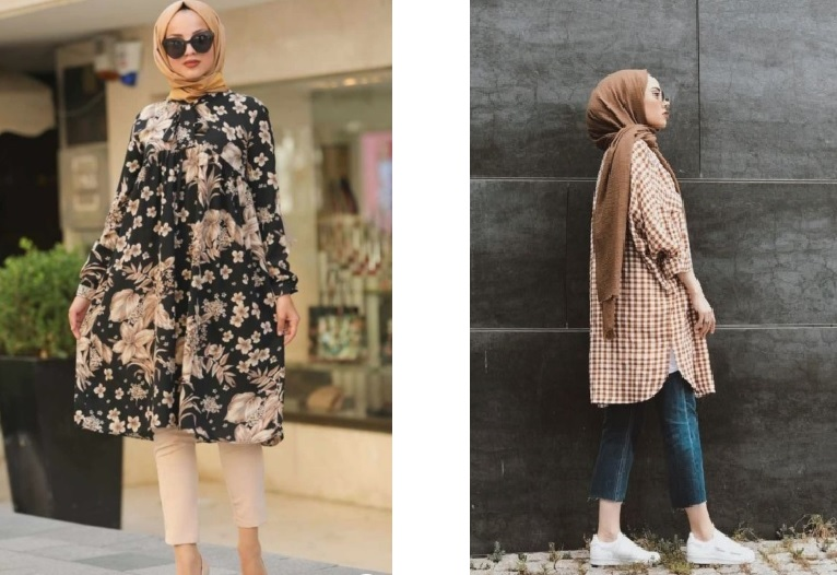 girls with New Hijab Styles 2021