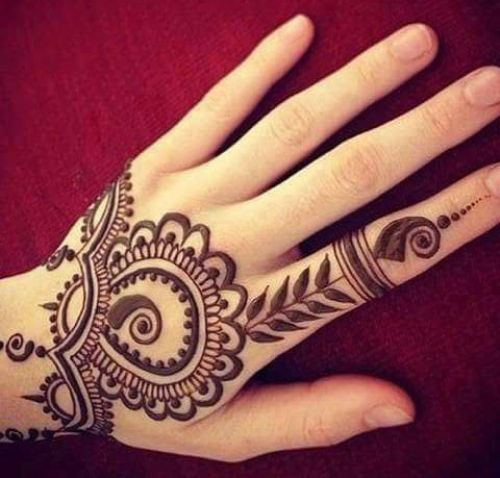 Cute and Simple Henna Backhand Designs