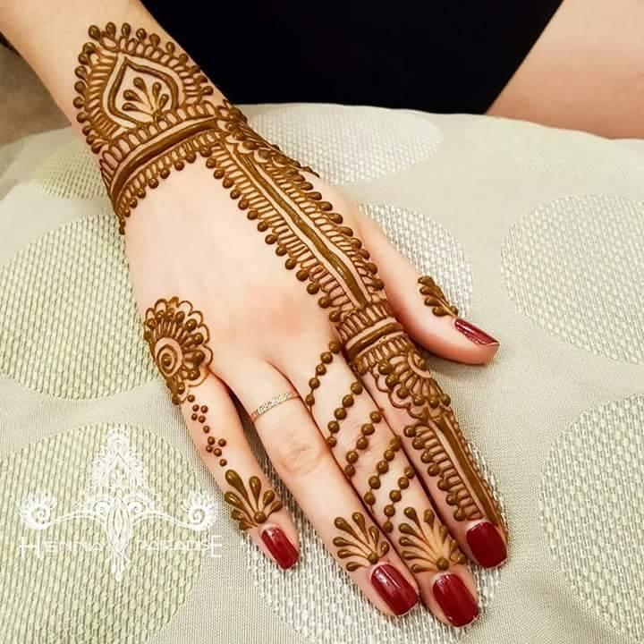 Henna Design 2020 Back Hand