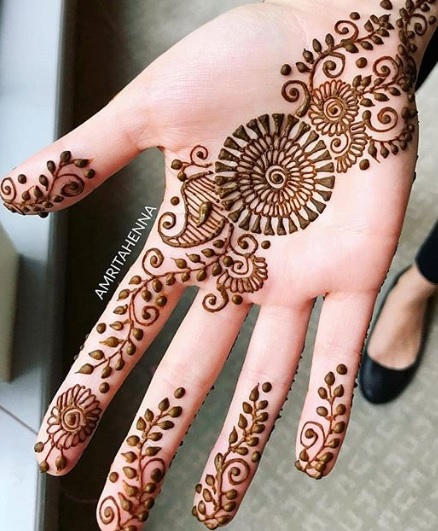 Beautiful front hand henna-design