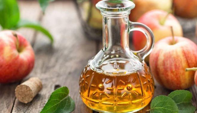 Apple Cider Vinegar in a jar on the table