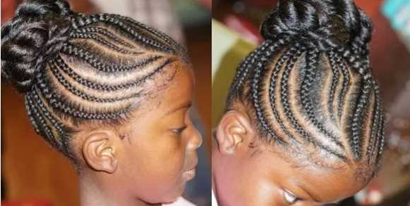 little girl Twisted Bun hairstyle