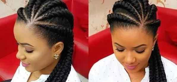 girl with Twisted Braids to the side
