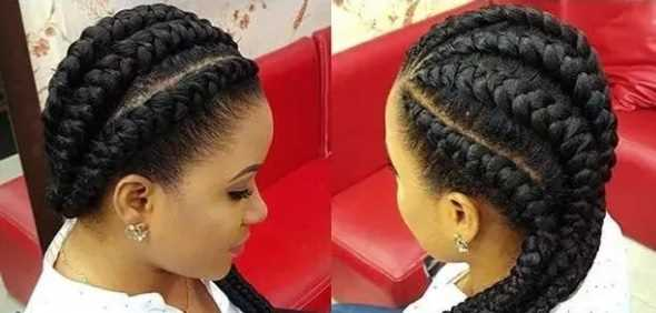 Twisted Braids to the side