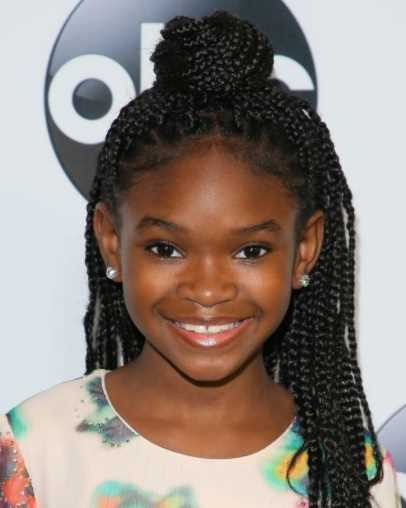 black girl with Braid  bun with a Long hair