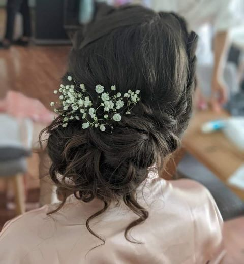 Hair up with Jeweled