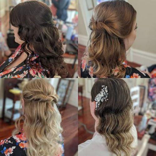 Half up Half Down Bridesmaid Hairstyles