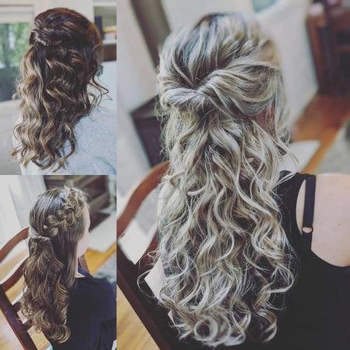 Curly Boho Bridesmaid Hairstyles