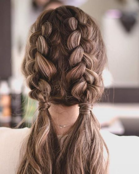 girl with Double Braids