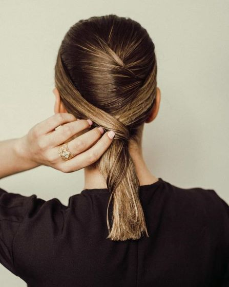a girl with Low Ponytail