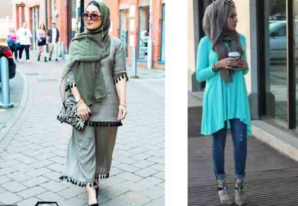 women with Casual Hijab Outfits for Summer