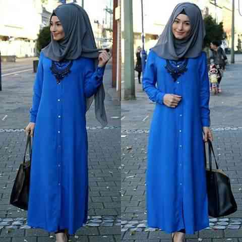 girl with simple hijab dress with Accessories