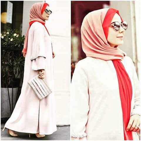 girl with Loose Hijab Styles For Summer