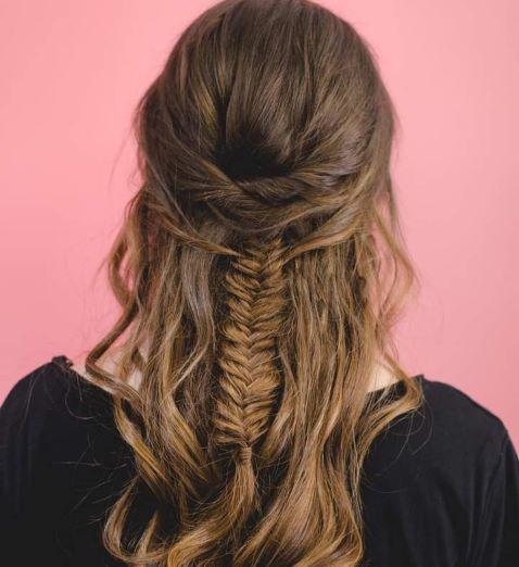 Fishtail Half up Hair style