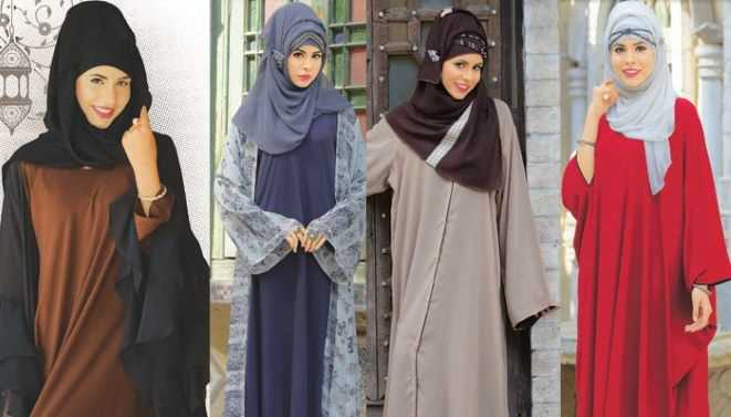 Abayas with different Hijab Accessories