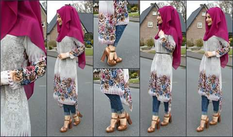 hijab outfit ideas with jeans for summer
