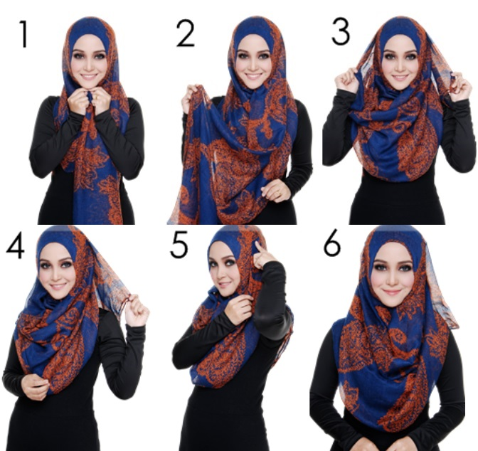 girl with How to wear hijab with dupatta step by step
