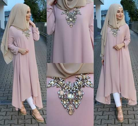 a girl with hijab and accessories