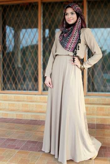Muslim girl with latest fashion hijab with outfit