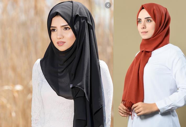 Simple hijab with dupatta