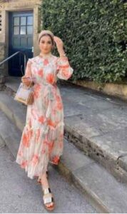 Floral-jilbab-Egyptian-Hijab-Style