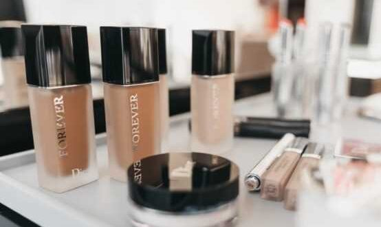Dior Makeup Products on the table