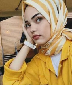 yellow hijab style for school girls