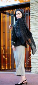 black Hijab Style for School Girls